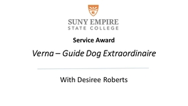 Thumbnail for entry Verna - Guide Dog Extraordinaire - Retires