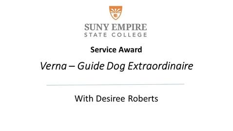 Thumbnail for entry Verna - Guide Dog Extraordinaire - Retires