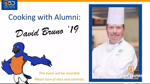 Thumbnail for entry Cooking with SUNY Empire Alum David Bruno