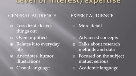 Thumbnail for entry Evaluating Information Sources for Intended Audience