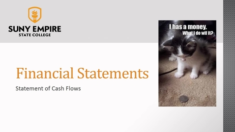 Thumbnail for entry Financial Statements: Statement of Cash Flows