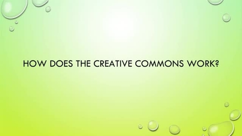 Thumbnail for entry OER Bootcamp 2-2 - How the Creative Commons Works