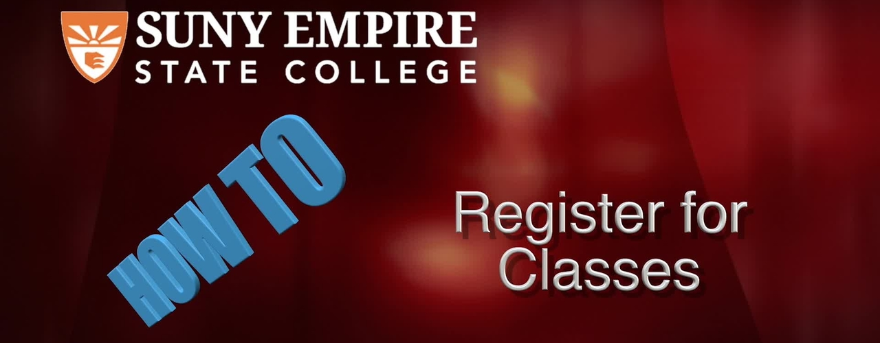 Registering for Classes - Students