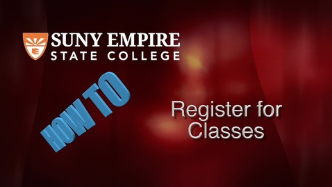 Thumbnail for entry Registering for Classes - Students