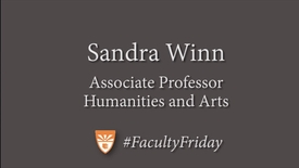 Thumbnail for entry Sandy Winn Faculty Friday