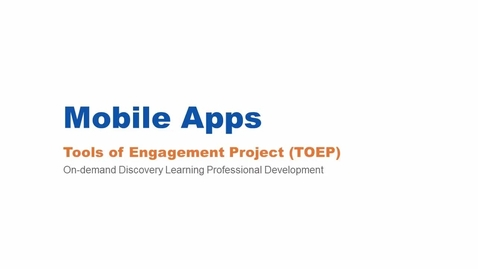 Thumbnail for entry Mobile Apps Webinar 3/3/16
