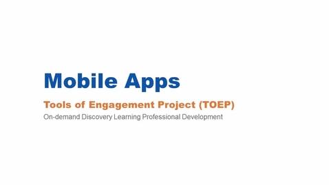 Thumbnail for entry Mobile Apps Webinar 3/3/16
