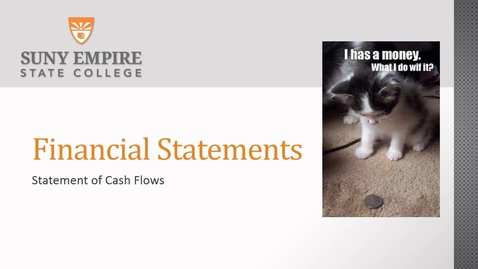 Thumbnail for entry financial statement of cash flows