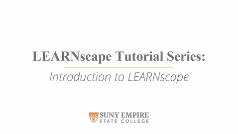 Thumbnail for entry Introduction to LEARNscape