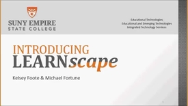 Thumbnail for entry Introducing LEARNscape Webinar - 2016-10-6