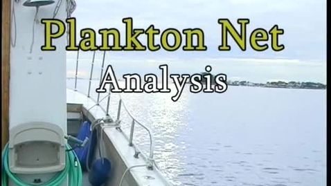 Thumbnail for entry Plankton Net Analysis (Module 3)