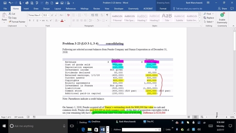Thumbnail for entry 214014 Advanced Accounting - M02 Problem Demonstration 3-23