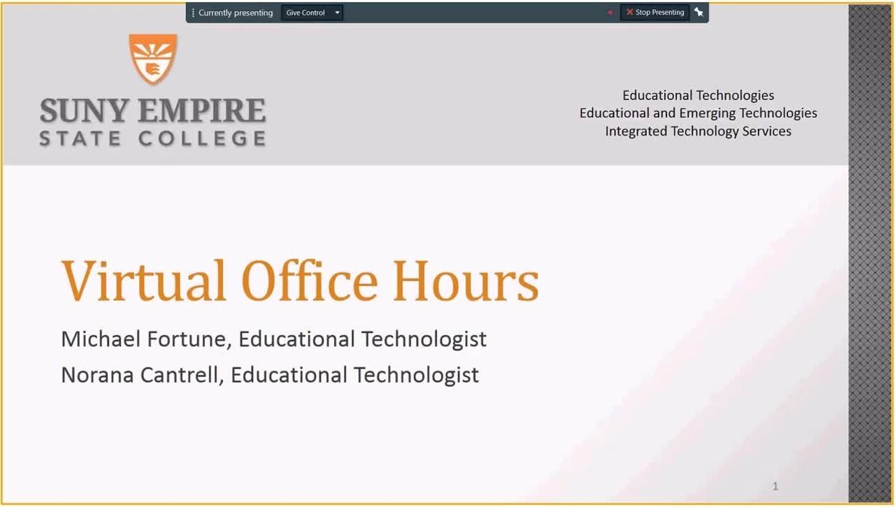 EET Webinar Series  Hosting Virtual Office Hours - Thursday, August 23, 2018