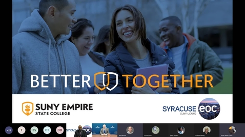 Thumbnail for entry SUNY Empire and Syracuse EOC Ceremonial Partnership Event and Information Session - September 30, 2021