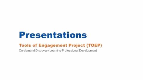 Thumbnail for entry Presentations Webinar 2/25/16