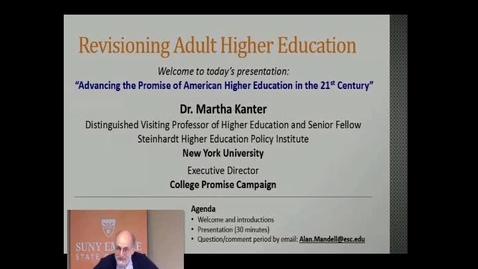 Thumbnail for entry Advancing the Promise of American Higher Education in the 21st Century - Dr. Martha Kanter