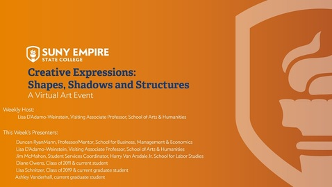 Thumbnail for entry Creative Expressions: Shapes, Shadows and Structures - May 21, 2020