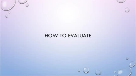 Thumbnail for entry OER Bootcamp Video 1-3 - OERs and How To Evaluate Them