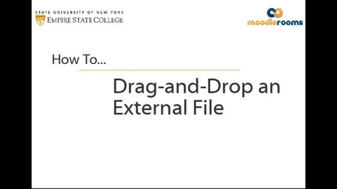 Thumbnail for entry Dragging-and-Dropping a File