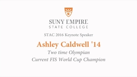 Thumbnail for entry Ashley Caldwell 2016 STAC Keynote stream