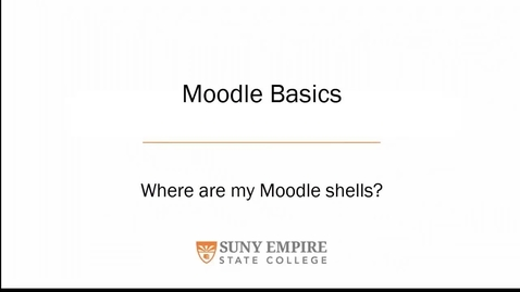 Thumbnail for entry How do I find my moodle shells??  The list is too long!