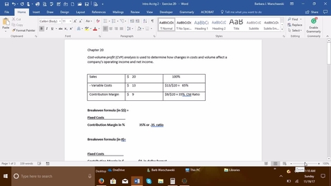 Thumbnail for entry 212064 Introductory Accounting 2 - Problem Demo Exercise 20-4