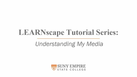 Thumbnail for entry Understanding My Media