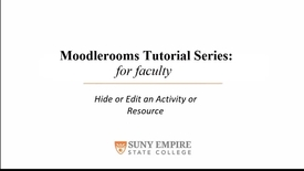 Thumbnail for entry Hide or Edit a Resource or Activity