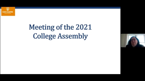 Thumbnail for entry College Assembly and State of the College Address
