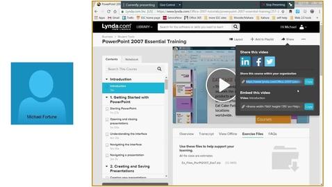 Thumbnail for entry EET Webinar: Uses of ESC's Lynda.com for Pedagogical Engagement- 4/27/17
