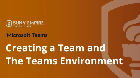 Thumbnail for entry Creating a Team; Team Channels and Tabs