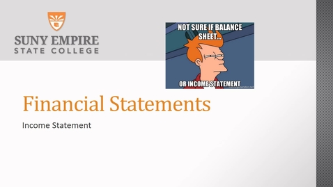 Thumbnail for entry financial statements income statement