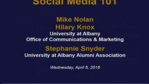 Thumbnail for entry Social Media 101