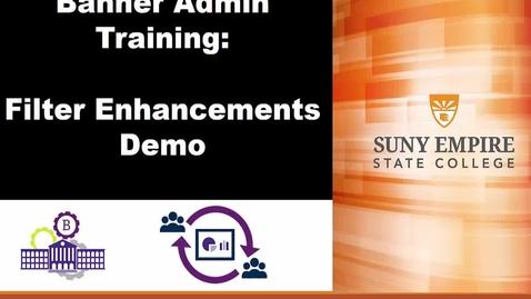 Thumbnail for entry Banner Admin - Filter Enhancements Demonstration