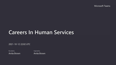 Thumbnail for entry SUNY Empire Careers In Human Services