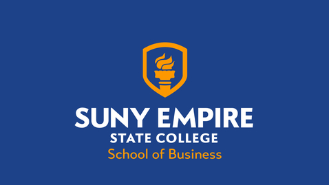Thumbnail for entry School of Business - 2021 SUNY Empire Virtual Summer Commencement