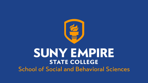 Thumbnail for entry School of Social & Behavioral Sciences - 2021 SUNY Empire Virtual Summer Commencement