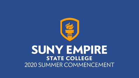 Thumbnail for entry Together as One: SUNY Empire 2020 Summer Commencement