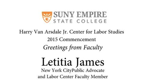 Thumbnail for entry 2015 HVACLS Commencement - Letitia James Faculty Remarks