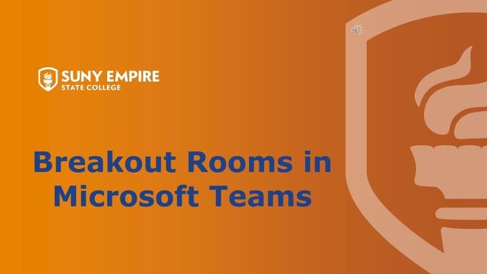 Breakout Rooms in MS Teams