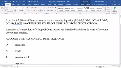Thumbnail for entry 212054 Introductory Accounting 1 M02 EXERCISE 3-7