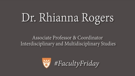 Thumbnail for entry #FacultyFriday: Dr. Rhianna Rogers
