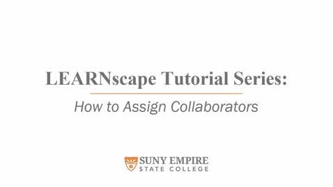Thumbnail for entry How To Assign A Collaborator