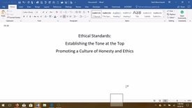 Thumbnail for entry AUDITING--M04 Ethical Standards--Establishing the Tone at the Top