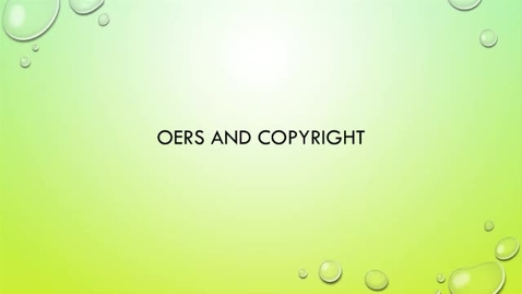 Thumbnail for entry OER Bootcamp 2-1 - Copyright Issues Pertaining to OERs