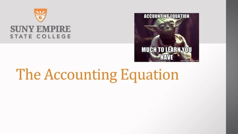 Thumbnail for entry accounting equation