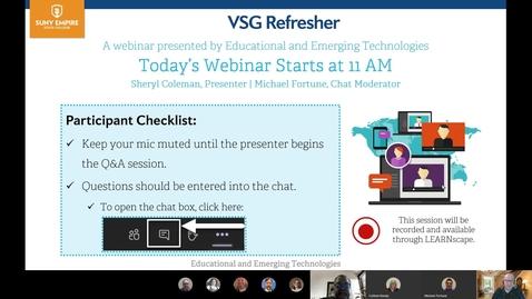Thumbnail for entry  9-30-20 VSG Refresher Webinar by EET