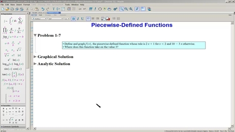 Thumbnail for entry Solution 1-7(b) Piecewise-Defined Functions-Analytic Solution