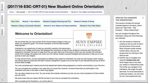 Thumbnail for entry Online Orientation