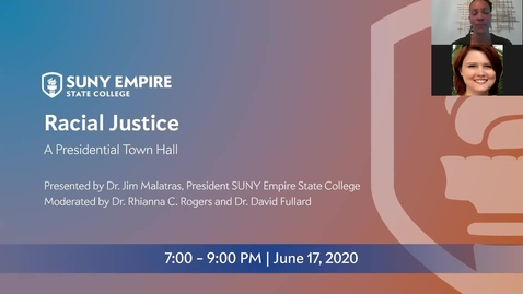 Thumbnail for entry Virtual Town Hall: Racial Justice